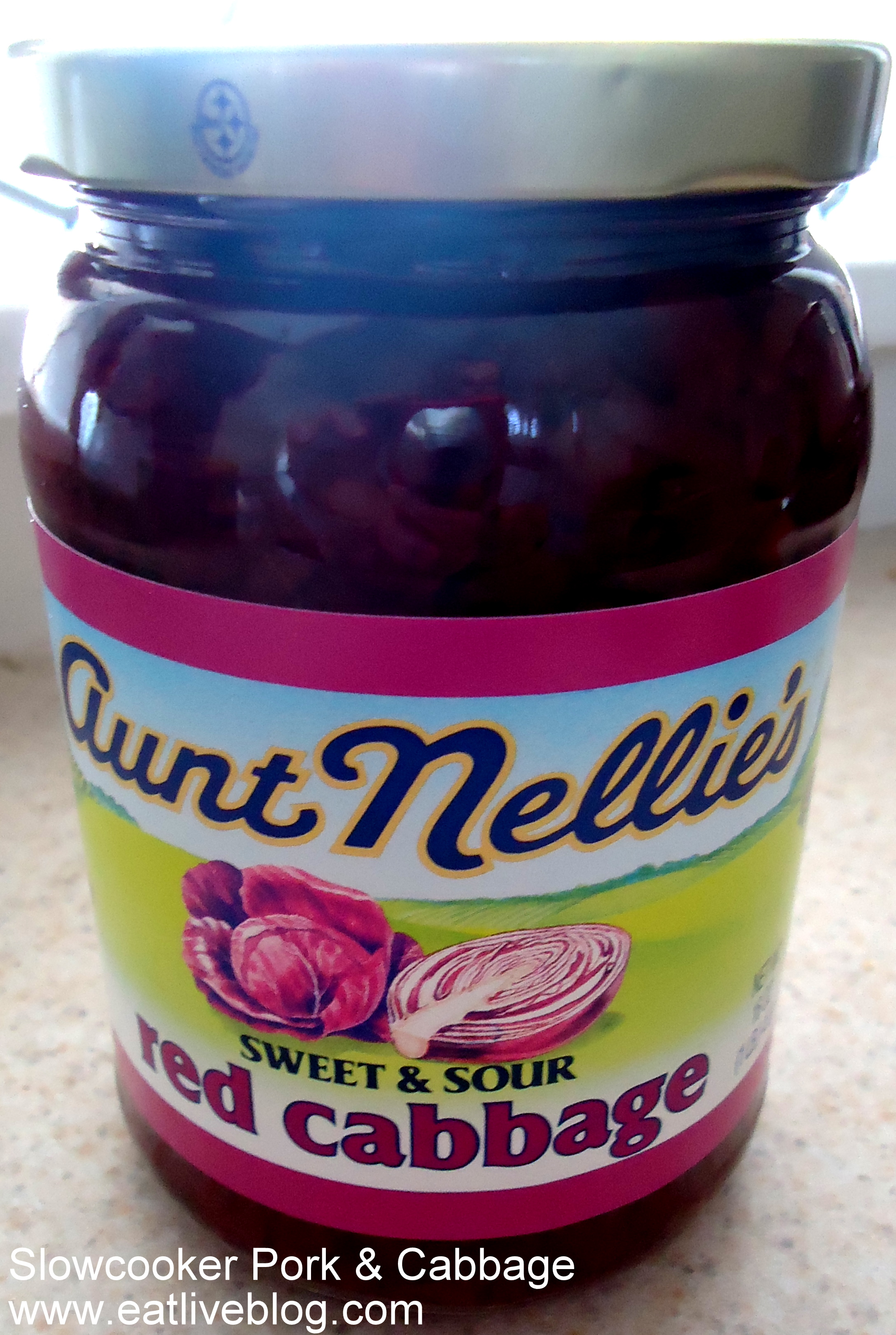 Luckily I had a can of Aunt Nellie's Sweet & Sour Red Cabbage on hand…
