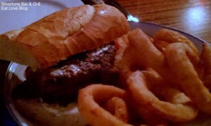 Silvertone Bar & Grill, Boston Steak Sandwich & Onion Rings