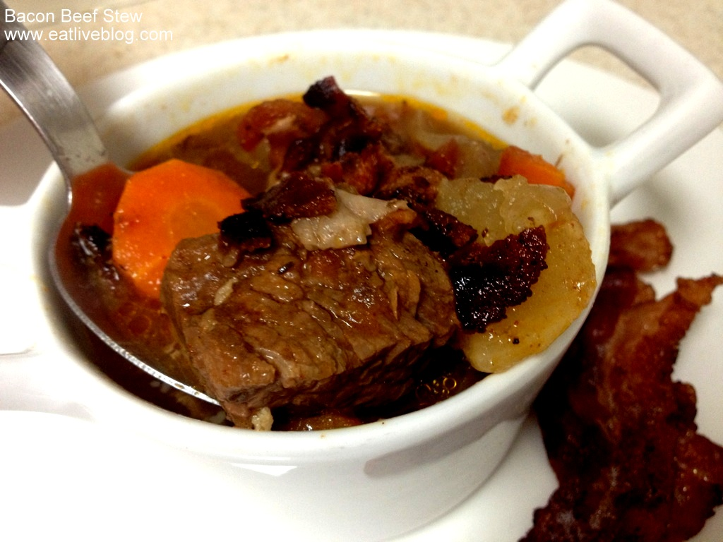 Beef Stew With Bacon Recipe — Dishmaps