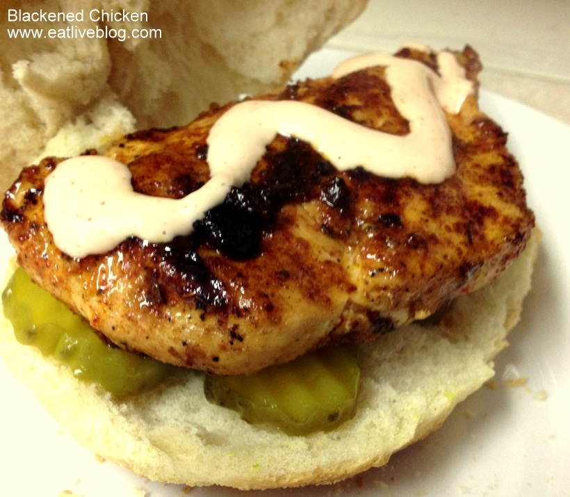 Blackened Chicken Sandwich with Cajun Mayo | Eat.Live.Blog