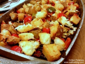 Grilled potato and pepper side dish