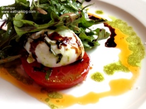 caprese salad at Scampo in Boston