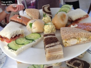 tea sandwiches at the boston public library