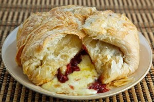 Baked Brie and Cranberry Sauce for the holidays